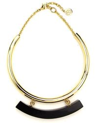 Ben-Amun - Gold Collar Necklace With Black Resin Bar - Lyst