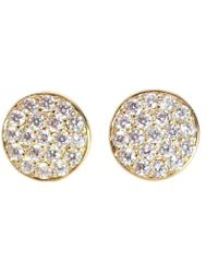 Rachael Ryen - Round Glitter Stud Earrings - Lyst