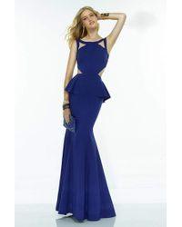Alyce Paris - Claudine - 2523 Dress In Cobalt - Lyst