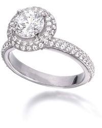 Ashley Schenkein Jewelry - Round Micro Pavé Diamond Engagement Ring - Lyst