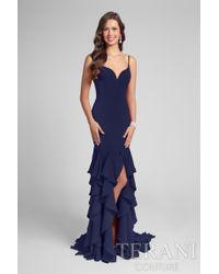 Terani - Classy Sleeveless Sweetheart Fit And Flare Ruffled Dress P - Lyst