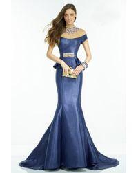 Alyce Paris - Claudine - Dress In Cobalt Multi-color - Lyst