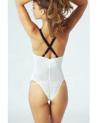 Leah Shlaer Swimwear - The Pavlova White Mesh One Piece - Lyst