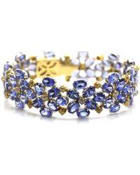 Trésor - Tanzanite & Color Diamond Bracelet In Kt Yellow Gold - Lyst