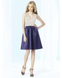After Six - Bl Dress In Amethyst - Lyst