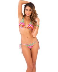 Luli Fama - Sunkissed Laughter D/dd Cup Triangle Halter In Multicolor (l) - Lyst