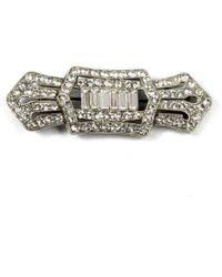 Ben-Amun - Crystal Art Deco Hair Pin - Lyst