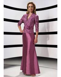 Alyce Paris - Mother Of The Bride - Dress In Aubergine - Lyst