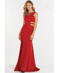 3b01425990d Alyce Paris - Prom Collection - Long Trumpet Gown With Side Cut Outs 8006 -  Lyst