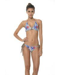 Malai Swimwear | Leo Palmetto Tie Side Bottom B | Lyst