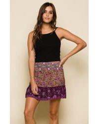 Raga - In Bloom Short Skirt - Lyst