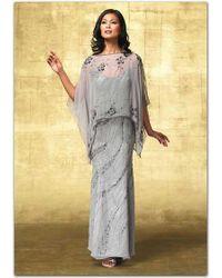 Alyce Paris - Mother Of The Bride - Elegant Dress In Mercury - Lyst