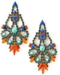 Elizabeth Cole - Karmen Earrings - Lyst