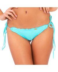 Luli Fama - Cosita Buena Wavey Brazilian Tie Side Bottom In Aquamarine (l) - Lyst