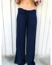 Tysa - Drawstring Pant In Navy - Lyst