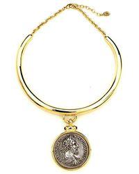 Ben-Amun - Roman Coin Gold Collar Necklace - Lyst