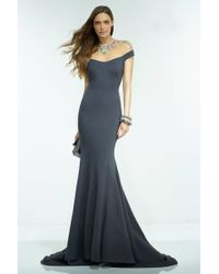 Alyce Paris | Claudine - Long Dress In Charcoal Multi | Lyst