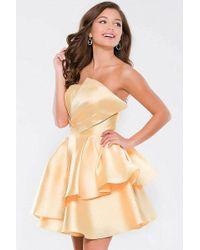 Jovani - Fan Bust Line Satin A-line Dress Jvn45677 - Lyst