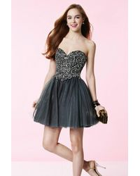 Alyce Paris - Homecoming - Dress In Charcoal - Lyst