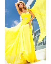Mon Cheri - Tb Evenings By - Tbe Dress In Yellow - Lyst