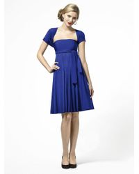 Dessy Collection   Lbtwist Dress In Sapphire   Lyst