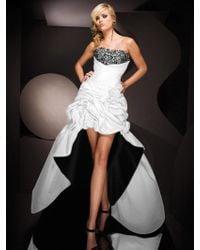 Mon Cheri - Tb Evenings By - Tbe Dress In White Black - Lyst