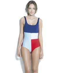 Estivo Swimwear - Removable Cups & Tummy Control Contrast One Piece /new/ - Lyst