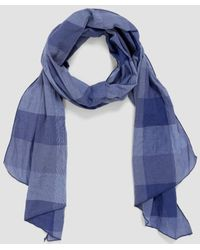 Engineered Garments - Block Check Cl Lawn Long Scarf - Lyst
