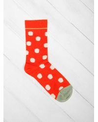 Bonne Maison - Vermilion Polka Dots Socks - Lyst