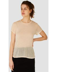 Baserange - Cupro Tee Shirt - Lyst