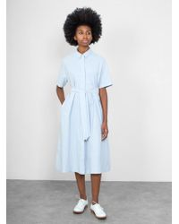 YMC | Joan Poplin Shirt Dress | Lyst