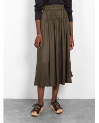 Apiece Apart - Elin Shirred Skirt - Lyst