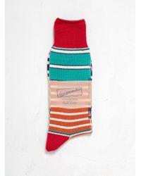 Anonymous Ism - Diffa Border Stripe Socks - Lyst