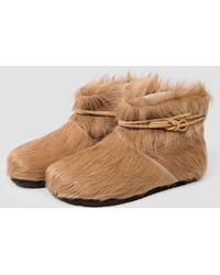 Bosabo - Long Hair Boots W Sheepskin Insole - Lyst