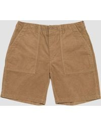 Engineered Garments - 14w Corduroy Fatigue Short Khaki - Lyst