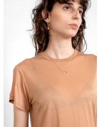 Baserange - Short Sleeve T-shirt Nude - Lyst