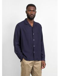 Gitman Brothers Vintage - Vintage Open Collar Camp Shirt - Lyst