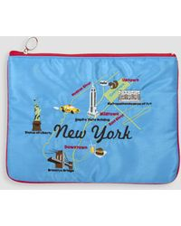 Weekend(er) - New York Embroidered Pouch - Lyst