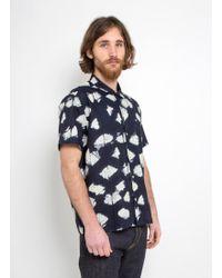 American Rag Cie - You Must Create Malick Paw Print Shirt Navy - Lyst