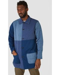 FDMTL - Patchwork Coat Indigo Patchwork - Lyst