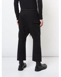 The Viridi-anne - Black Cotton Cropped Pants - Lyst