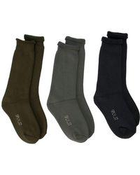 784b325f Yeezy - Bouclette 3 Pack Socks - Lyst