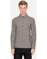 Lumen Et Umbra - Laser Burned Grey Button Down Shirt - Lyst