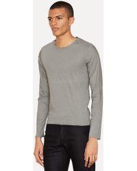 Lumen Et Umbra - Gray Jersey Poplin Layered Long Sleeve - Lyst