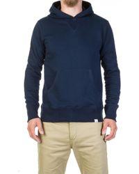 Merz B. Schwanen - 382 Hooded Sweater Ink Blue - Lyst