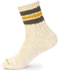 Anonymous Ism | Socks 3 Line Slub Natural | Lyst
