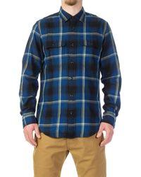 Filson - Scout Shirt Indigo/black/khaki Checked - Lyst