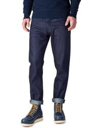 Nudie Jeans - Nudie Jeans Steady Eddie Dry Blue Faith 12.25oz - Lyst