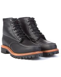 "Chippewa Boots - Chippewa 1975 6"" Original Moc Toe Trekker Boots Black - Lyst"