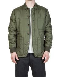 Universal Works - Quilted Bakers Jacket Ital. Nylon Olive - Lyst